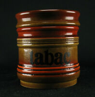 Keramik Tabakdose Tabac 60er 70er Jahre Vintage orange ocker Raucherzubehör