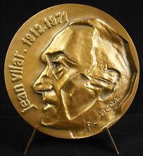 Médaille à Jean Vilar Festival d'Avignon & TNP théatre national populaire medal