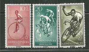 SPANISH GUINEA B55-57 MNH BICYCLE RACING