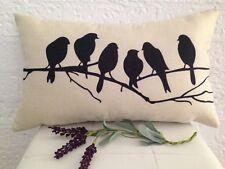 30 x 50 Beige Black Rectangular Birds Home decor Art Pillow Throw Cushion Cover