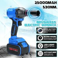 530N.M Electric Cordless Impact Wrench 1/2'' Socket Brushless Battery Driver