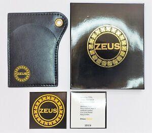 ZEUS Brand Slim Wallet Thin Card Holder Black Luxury Woman Man Economy EDITION