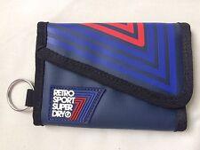 SUPERDRY - Retro Sport Bi Fold - Bifold  Wallet - Blue - NEW