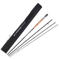 LEO Fly Fishing Rod 9FT Weight 3# 4# 5# 6# 7# 8# Graphite Fly Rod Trout 4 Piece