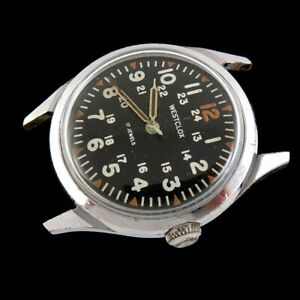 Vintage Men's Westclox 17 Jewel Military Wrist Watch