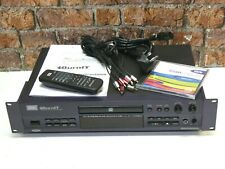 HHB CDR-830 Professional Rack Mount CD Recorder, Rewriter & Player + Remote