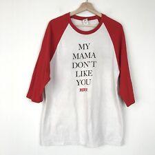 Justin Bieber Purpose Tour 3/4 Raglan Sleeve T Shirt Size Large