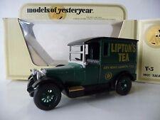 Models of yesteryear Y5 1927 talbot Lipton's Tea City Road Matt Silver Calandre