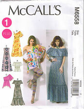 Peasant Top Maxi Dress Ruffle Sleeve Variation Sewing Pattern Plus 18 20 22 24