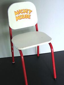 MICKEY MOUSE Childs White Composite Chair red metal frame Desk Disney FREE SH