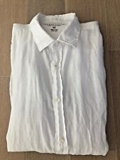 The Men's Store BLOOMINGDALES 100% Solid White Long Sleeve Button Down Shirt - M