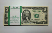 HALF BUNDLE USA $2 - 50 UNCIRCULATED NOTES CURRENCY - LEGAL 2 DOLLAR NOTES