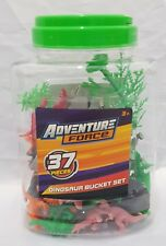 37Piece Dinosaur Adventure Set -  Bucket Pieces