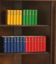 Four Assorted Bright Coloured Block Books, Doll House Miniatures, Library Book