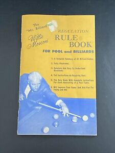 Mr Billiard WILLIE MOSCONI Regulation Rule Book Pool & Billiards 1966