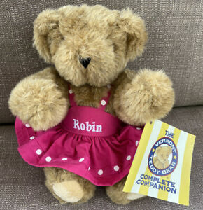 Vermont Teddy Bear Company Complete Companion 12 in Pink Dress ROBIN