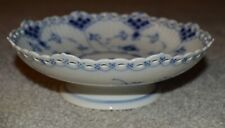 Royal Copenhagen Blue 1/2 Lace fluted footed bowl