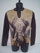 T-shirt Roberto Cavalli,colore marrone elefante,tg 50