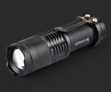 1x 7W 300LM Mini CREE LED Flashlight Torch Light Lamp Adjustable Focus Zoom