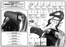 Givi Monokey portador de cofre Sr134 para Piaggio MP3 Touring 300-400 10-14