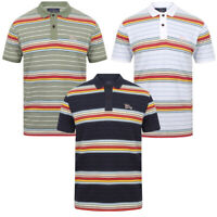 Tokyo Laundry Men's Bakersfield Striped Polo Shirt Stripy Retro Vintage T-Shirt