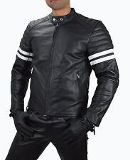 aw-1089 Giacca di pelle da Biker, moda retrò Vacchetta Motocicletta in jacket.xl