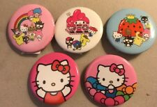 Sanrio Hello Kitty Button Pin Set Lot 5