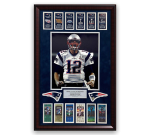 Tom Brady Unsigned Photo Collage Framed to 20x30 Patriots