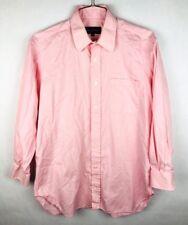 Robert Talbott Button Front Dress Shirt Mens Size 15 1/2 33 Pink Long Sleeve