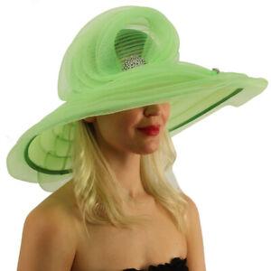 "Dutchess Derby Mulit Swirled Layers Feathers Floppy 7"" Brim Dressy Hat"