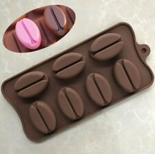 Coffee Bean Chocolate Fondant Mould Mold Tool Baking Wax Melt Cake Jelly Candle