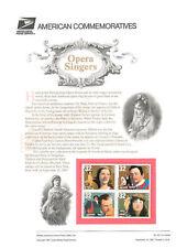 #521 32c Opera Singers #3154-3157 USPS Commemorative Stamp Panel