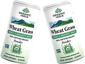 2 x 100g ORGANIC INDIA Wheat Grass Powder ( total 200g )