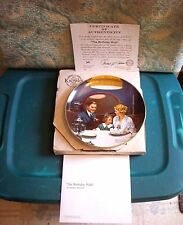 "Vintage1984 Norman Rockwell Knowles Collector Plate""The Birthday Wish""Coa W/ Box"