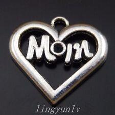 10pcs Baseball Mom Charms silver tone Baseball Mom Charms pendants 15x26mm