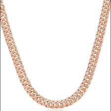 Collar Mujer 5MM 750er Oro Rosa 18 Quilates Dorado Collar K3174