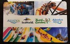 2 Day SeaWorld Busch Gardens Aquatica Adventure Island Florida Gift Card/Tickets