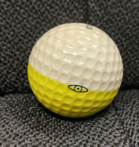 PING White/Yellow Two-Color GOLF BALL 1 Karsten