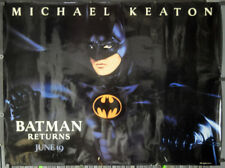 Batman Returns 1992 Orig 46X60 Subway Film Poster Michael Keaton Danny Devito