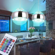 Jeu de 2 Ensemble LED bille suspendu Spot intérieur RGB Télécommande Variateur
