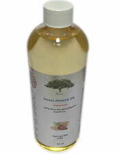 SWEET ALMOND OIL ORGANIC massage  COLD PRESSED UNREFINED 100% PURE 16 OZ carrier