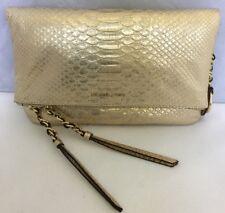 0dc26cd53b23 Michael Kors Corinne Leather Medium Messenger Light Pale Gold Bag Purse  298