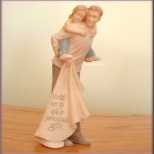 DAD WITH DAUGHTER FIGURINE BY FOUNDATIONS KAREN HAHN FREE U.S. SHIPPING