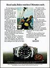 1980 Rolex Submariner Watch Ted Hood Sails Designer retro photo print ad ads48