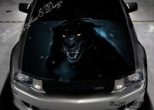 Angry Wolf Car Vinyl Graphics Car Bonnet Full Color Graphics Vinyl Sticker #314
