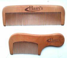 Haari's 100% Peach wood Men Gentleman Moustache Beard Comb Hair Grooming Handmad