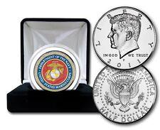 Marine   Challenge coin in Velour box