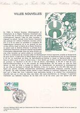 Document Philatélique Timbre 1er Jour : 18/10/ 1975 - Villes Nouvelles