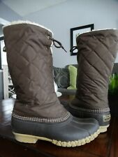 LL Bean Sherpa Lined tall Boots 9