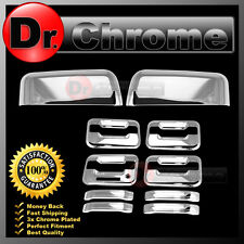 09-14 Ford F150 Chrome TOP HALF Mirror+4 Door Handle+keypad+no PSG keyhole Cover